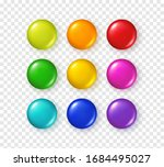 button set isolated on... | Shutterstock .eps vector #1684495027