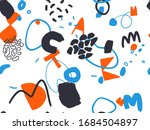 seamless abstract doodle... | Shutterstock .eps vector #1684504897