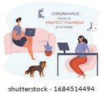 coronavirus.stay at home.... | Shutterstock .eps vector #1684514494
