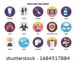 medical icons set for business  ... | Shutterstock .eps vector #1684517884