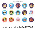 medical icons set for business  ... | Shutterstock .eps vector #1684517887