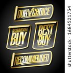 recommended  our choice  best... | Shutterstock .eps vector #1684521754