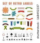 vintage labels and ribbons.... | Shutterstock . vector #168452237