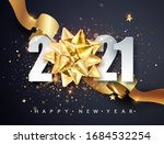2021 happy new year greeting... | Shutterstock .eps vector #1684532254