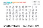 simple set of covid 19... | Shutterstock .eps vector #1684533421