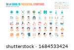simple set of covid 19... | Shutterstock .eps vector #1684533424