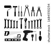 silhouette icon carpentry tool...   Shutterstock .eps vector #1684550254