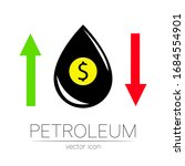 vector sign of spot liquid oil. ... | Shutterstock .eps vector #1684554901