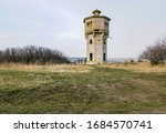 old abandoned beton water tower ...   Shutterstock . vector #1684570741