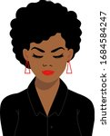 afro woman  american african... | Shutterstock .eps vector #1684584247