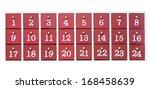 advent calendar made of wood... | Shutterstock . vector #168458639