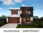 Small photo of Modern and luxurious two storey villa with garage.