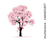 beautiful cherry blossom tree  ... | Shutterstock .eps vector #1684601857