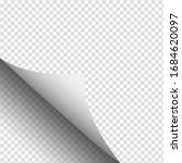 white empty page with curved... | Shutterstock .eps vector #1684620097