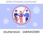 avoid contact during the covid... | Shutterstock .eps vector #1684642084