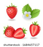 realistic sweet strawberry set... | Shutterstock .eps vector #1684657117