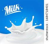milk splash 3d.abstract... | Shutterstock .eps vector #1684718401
