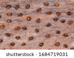 aromatic coffee beans on white...   Shutterstock . vector #1684719031