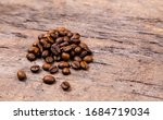 aromatic coffee beans on white...   Shutterstock . vector #1684719034