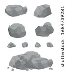 stones with detailed drawing.... | Shutterstock .eps vector #1684739281