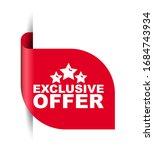 red vector illustration banner...   Shutterstock .eps vector #1684743934