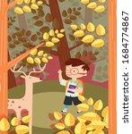 childhood background boy...   Shutterstock . vector #1684774867