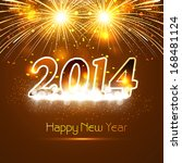 new year for shiny 2014... | Shutterstock .eps vector #168481124