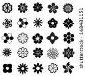 flower vector set  flowers icon ... | Shutterstock .eps vector #168481151