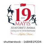 turkey 19 may. translation ... | Shutterstock .eps vector #1684819204