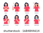vector illustrations of a woman ... | Shutterstock .eps vector #1684844614
