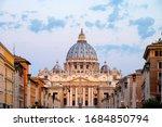 Vatican City. Sunrise Over The...