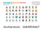 simple set of covid 19... | Shutterstock .eps vector #1684854667