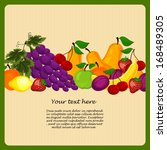 fruit design borders in vintage ... | Shutterstock .eps vector #168489305