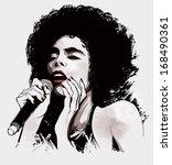 vector illustration of an afro... | Shutterstock .eps vector #168490361
