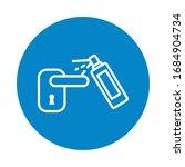 spray disinfecting a door... | Shutterstock .eps vector #1684904734