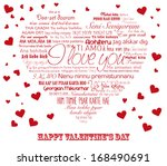 """Vector Red Heart With Words """"i..."""