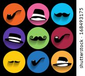 trendy  hipster  icons with... | Shutterstock .eps vector #168493175