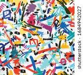 seamless pattern of graffiti...   Shutterstock .eps vector #1684942027