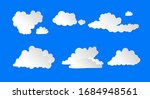 vector clouds set isolated on... | Shutterstock .eps vector #1684948561