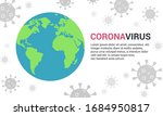 coronavirus pandemic background.... | Shutterstock .eps vector #1684950817