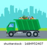 A Truck Takes Out Garbage From...