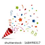 exploding party popper | Shutterstock .eps vector #168498317
