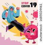 fight with coronavirus concept. ...   Shutterstock .eps vector #1685024461