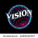 vision slogan print design with ...   Shutterstock .eps vector #1685026507