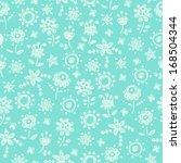 blue delicate seamless pattern... | Shutterstock .eps vector #168504344