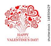 happy valentine's day ... | Shutterstock .eps vector #168504629