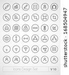 vector thin icons design set.... | Shutterstock .eps vector #168504947