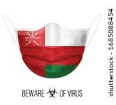 medical mask with national flag ... | Shutterstock .eps vector #1685088454