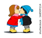 little girl for the first time... | Shutterstock .eps vector #168509114
