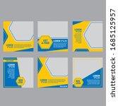 set of editable minimum square... | Shutterstock .eps vector #1685125957